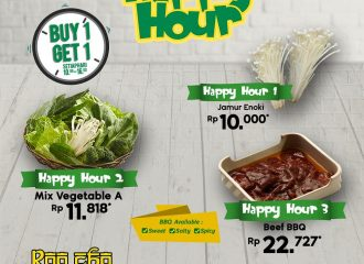 HAPPY HOUR BUY 1 GET 1