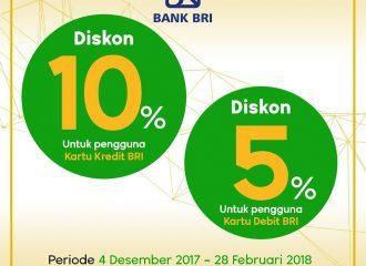 DISKON 10% dengan Kartu Kredit BRI
